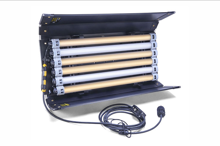 Kino Flo 6 Bank 4' with Quasar Science LED Tubes